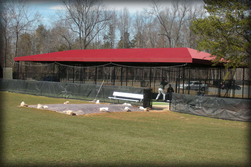 Metal Shelters For Batting Cage : Baseball batting cage covers shade protection