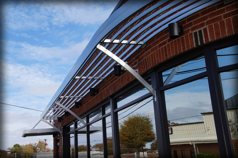 Architectural Aluminum Sunshades : Dac architectural sunshades and louver canopies