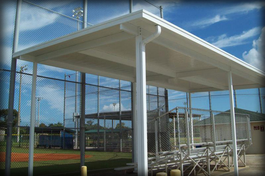 Shade Protection Amp Shade Overhangs For Stadium Bleachers