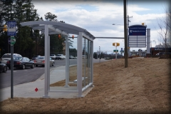 Clear Bus Stop Shelter
