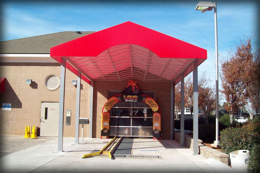 Car Wash Entry Awning