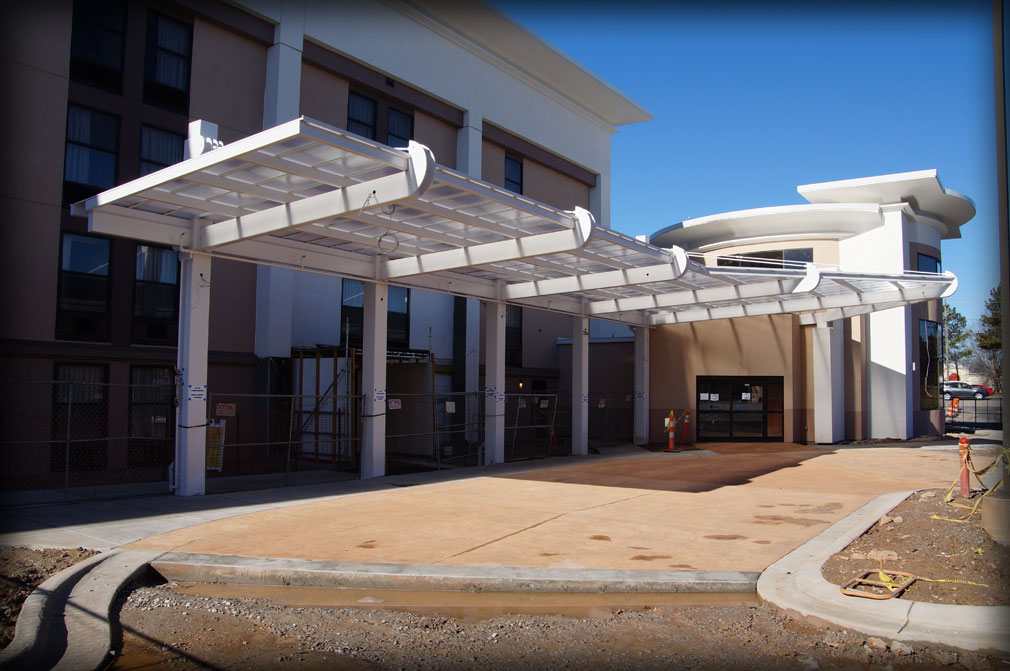 DAC Architectural Glass Canopies & Translucent Awnings