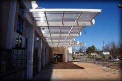 Polycarbonate Entrance Canopy