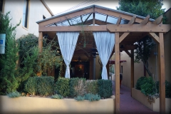 Pergola with Translucent Fabric Top