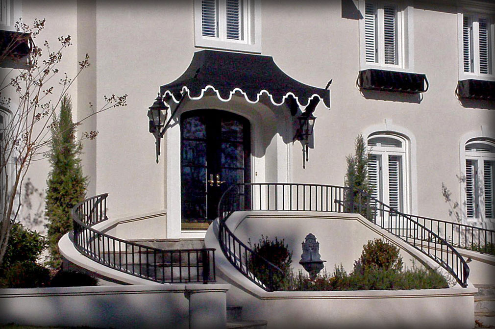 Stylized Front Door Awnings