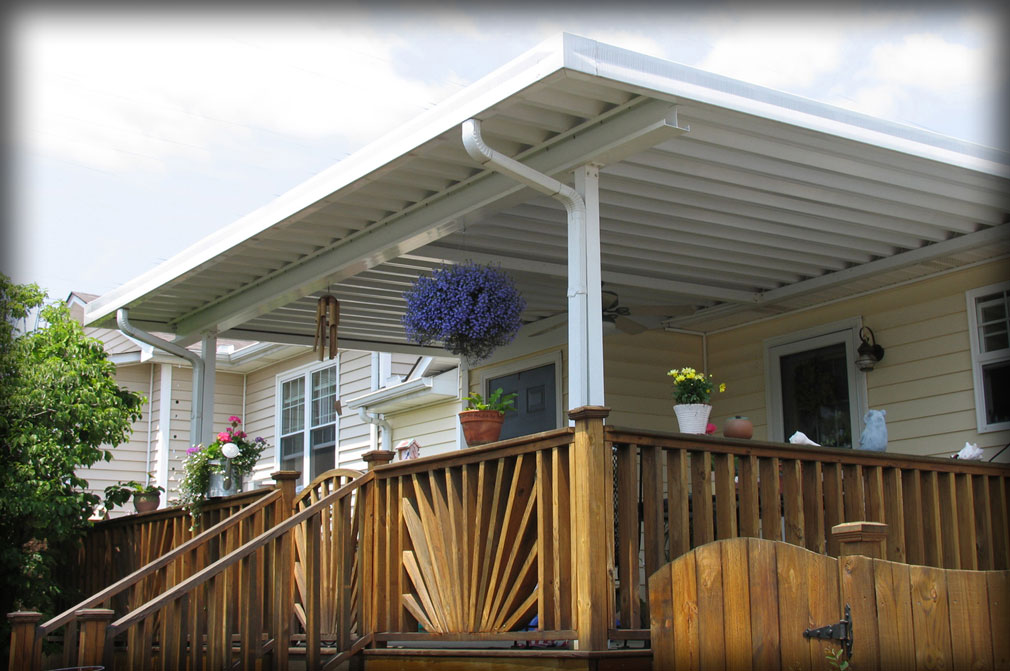 Metal Deck Canopy & Residential Deck Awnings Residential Patio Canopies
