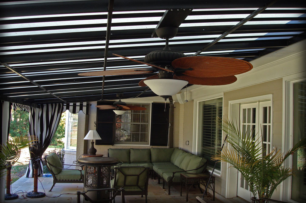Patio Awnings with Fans & Residential Deck Awnings Residential Patio Canopies