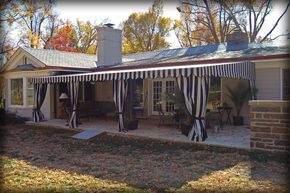 Patio Awnings with Curtains & Residential Deck Awnings Residential Patio Canopies