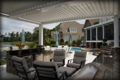 Retractable Louver Cabana