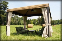 Pool Canopy with Side Curtains