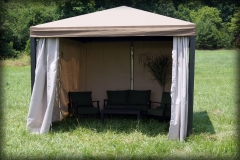 Pool Cabanas with Curtains