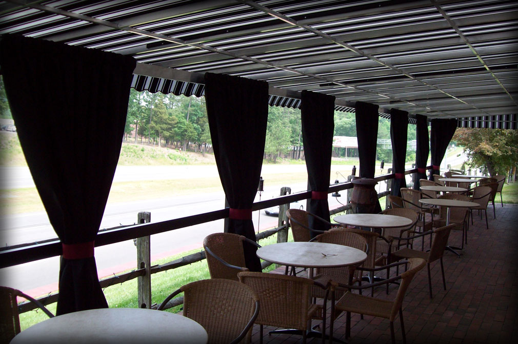 Outdoor Dining Fabric Awning