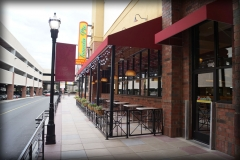 Outdoor Seating under Awning