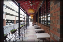 Outdoor Dining Cover with Fans