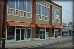 Copper Storefront Canopies