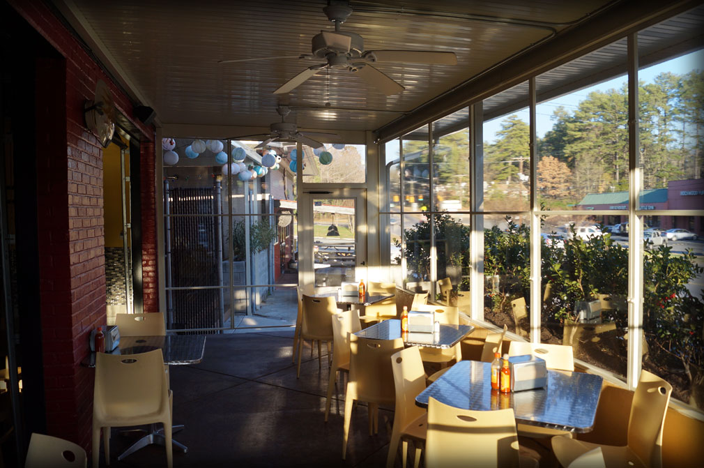 Restaurant Clear Patio Panels · Welded Clear Vinyl Curtains