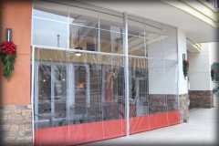 Clear Rolling Dining Area Curtains