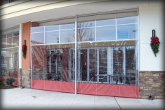 Retractable Restaurant Clear Vinyl Windows