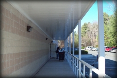 Walkway Cover with Railing