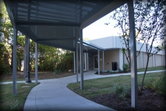 Curved Aluminum Walkway Cover