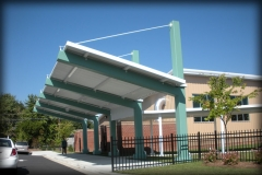 Cantilever Entrance Canopy