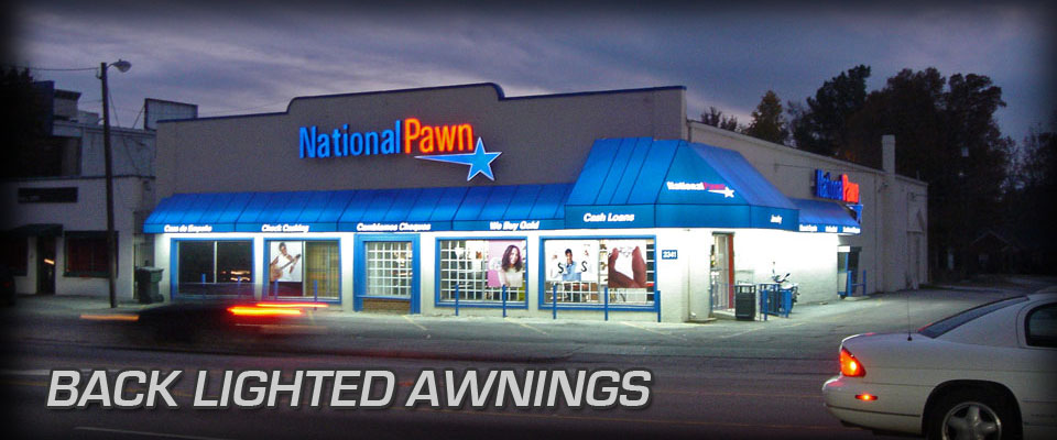 Back Lighted Awnings Dac Awnings
