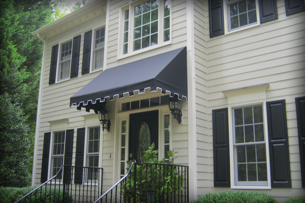 House Awnings For Doors And Windows : Residential fabric metal door window awnings covers