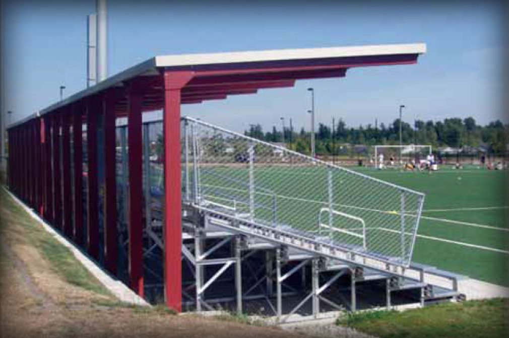 Shade Protection amp Overhangs For Stadium Bleachers